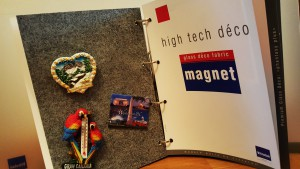 High tech magneet déco vlies