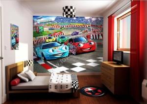 Kinderkamer fotobehang Cars